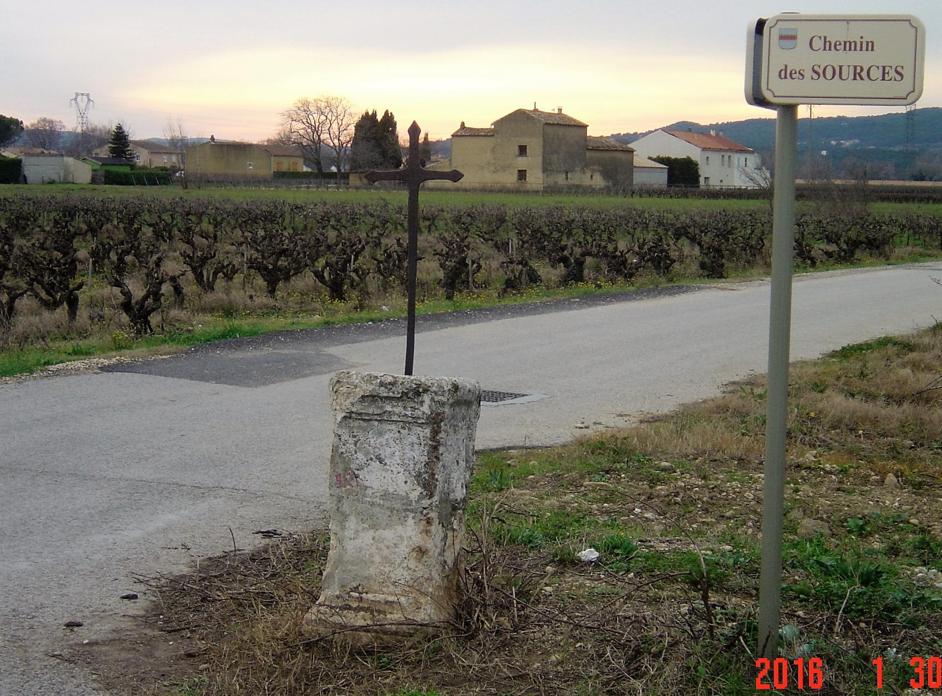 croix chemin des sources/chemin des Aurières