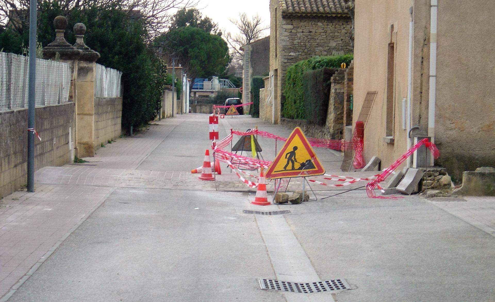 travaux rue  du chemin neuf